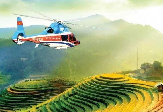Năm 2021, bạn có thể ngắm ruộng bậc thang ở Mù Cang Chải từ trên máy bay trực thăng